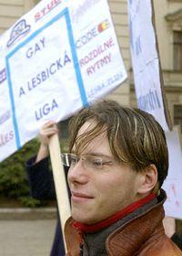 Manifestación de los homosexuales en Praga, foto: CTK