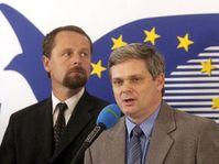 Martin Riman y Vlastimil Tlusty del Partido Cívico Democrático, foto: CTK