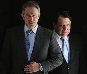 Tony Blair y Jiri Paroubek (Foto: CTK)