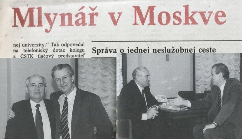 Михаил Горбачев и Зденек Млынарж, фото: Prezentace Michala Macháčka