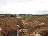 La construcción de la autopista D4, foto: Chmee2, CC BY-SA 3.0 Unported