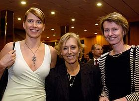 Ivana Vecerova, Martina Navratilova and Helena Sukova, photo: CTK