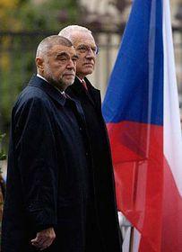 Stjepan Mesic and Vaclav Klaus, photo: CTK