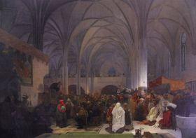 Slav Epic - Master Jan Hus preaching at the Bethlehem Chapel