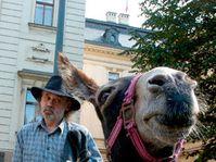 John Bok with donkey Biba, photo: CTK