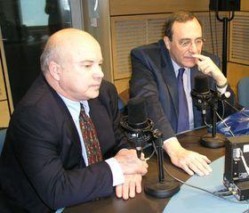 Frank Calzón  y Carlos Alberto Montaner (Foto: Carlos González-Shánel)