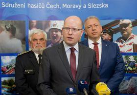 Встреча Богуслава Соботки с представителями Объединения пожарных Чехии, Моравии и Силезии, Фото: ЧТК