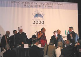 Dalai Lama y Vaclav Havel, Foro 2000