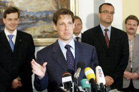 Nově jmenovaný premiér Stanislav Gross, foto: ČTK