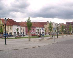 Husovo náměstí vBerouně