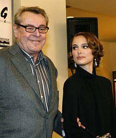 Milos Forman and Natalie Portman