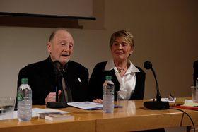 Michel Vinaver et Roselyne Chenu, photo: photo: Centre tchèque de Paris