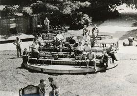 Otáčivé hlediště Český Krumlov - první pokus vmalém, foto: archiv Jihočeského divadla, attribution