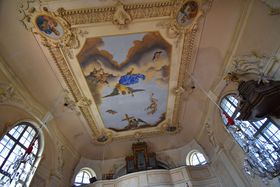 Deckenbilder in der Kreuzerhöhungskirche (Foto: Ondřej Tomšů)