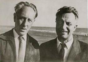 Bohuslav Martinů con su amigo Miloslav Bureš, foto: presentación oficial de la Fundación de Bohuslav Martinů
