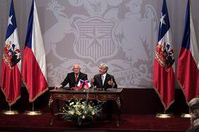 Václav Klaus y Sebastián Piñera, foto: ČTK