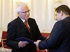 President Vaclav Klaus and Jiri Paroubek, photo: CTK
