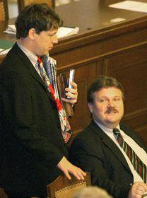 Stanislav Gross y Zdenek Skromach, Foto: CTK