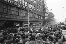 Чешское радио, ноябрь 1989 г., Фото: архив Чешского радио