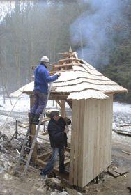 Construction de la chapelle Demel, photo: L'association des passionnés du patrimoine