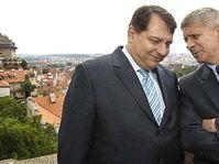 Marek Belka (right) and  Jiri Paroubek, photo: CTK