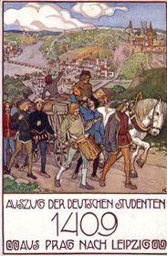 Auszug der deutschen Studenten aus Prag (Foto: Public Domain)