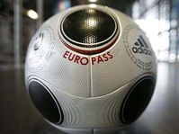 The ball for the Euro 2008 'Europass', photo: CTK