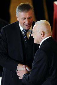 Předseda ODS Mirek Topolánek aprezident Václav Klaus, foto: ČTK
