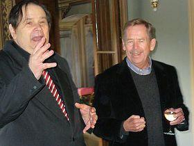 Jiří Kuběna et Václav Havel