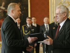 Vlastimil Picek et Miloš Zeman, photo: CTK