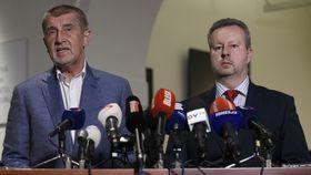 Andrej Babiš und Richard Brabec (Foto: ČTK)