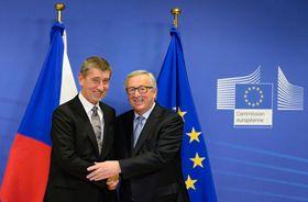 Andrej Babiš y Jean-Claude Juncker, foto: ČTK