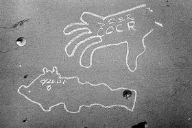 Рисунки на стенах домов, август 1968г., Фото: личный архив Павела Махачека