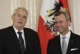 Miloš Zeman y Norbert Hofer, foto: ČTK