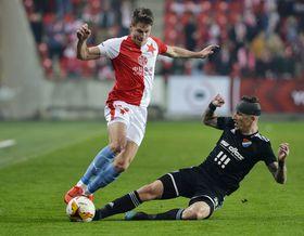 Lukáš Masopust (Slavia Prague), Jiří Fleišman (Baník Ostrava), photo: ČTK/Michaela Říhová