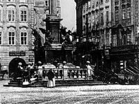 Old Town Square's Marian column in 1885, photo: CTK