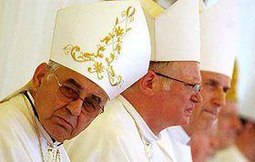 Kardinál Miloslav Vlk při slavnostní mši ve Velehradě, foto: ČTK