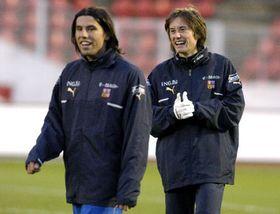 Milan Baros and Tomas Rosicky, photo: CTK