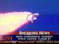 L'explosion de la navette spatiale américaine Columbia, photo: CTK
