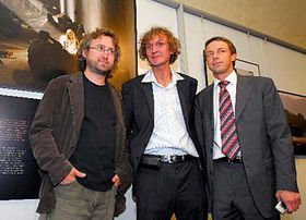 Jan Hrebejk, Jan Sibik and Pavel Bem, photo: CTK