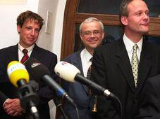 Stanislav Gross, Vladimír Spidla y Cyril Svoboda, foto: CTK