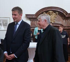 Tomáš Petříček (links) und Bischof Václav Malý Foto: Martina Schneibergová