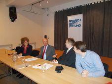 Einer der Vorträge der Friedrich-Ebert-Stiftung in Prag (Foto: Archiv FES Prag)