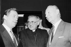 Václav Havel, Miloslav Vlk, Alexander Dubček, photo: CTK