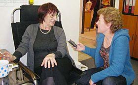 Галина Копанева с Лоретой Вашковой (Фото: Марцел Ржимак, Радио Прага)