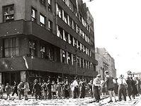 Edificio de la Radiodifusión Checa, el 5 de mayo de 1945