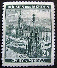 El sello postal, Olomouc, Protectorado de Bohemia y Moravia