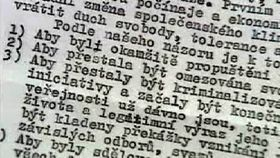 Několik vět, photo: ČT24