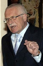 Presidente checho, Václav Klaus (Foto: CTK)