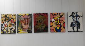Pinturas de Ángel Alfonso Castillo, foto: Dominika Bernáthová